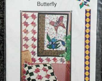 Triangles on a Roll Butterfly Wall  Quilt Sewing Pattern UC FF Uncut
