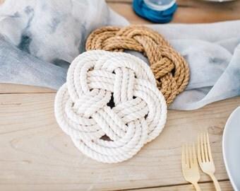 Rope Trivet / cotton