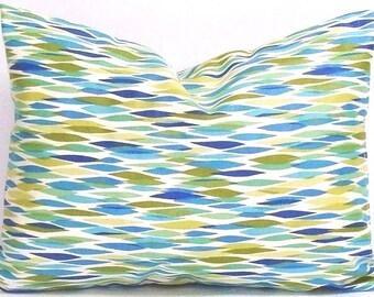 SEAGLASS Blue Green Pillow Sale.12x18 or 12x16 inch.Pillow Cover.Decorative Pillows.Housewares..Home Decor.Beach Decor.Celadon.Seaglass.cm