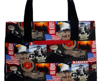 Tote Bag, Purse, Handbag, Cloth Bag, U.S. Marines Bag