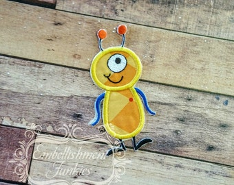 Monster letter I applique, initial embroidered patch, iron on applique letter for kids, iron on letter embellishment, iron on monogram patch