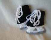 Cute Crocheted Baby Hockey Ice Skates - Made to Order
