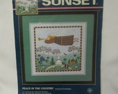 Cross Stitch Kit Vintage Carol Endres Peace In The Country Folk Art