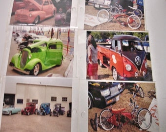 "Vintage Lot of24 Color Photos of Cars-Trucks-Hot rods 6"" by 4"" photos  Vintage Cars 1940s to 1970s"
