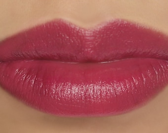 "Vegan Cream Blush and Lip Color Stick - ""Berry Wine"" (dark raspberry pink lipstick / cream blush)"