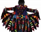 Custom order for Ryan, elf coat, sweater coat, rainbow coat, swirls