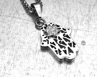 Hand of Hamsa Necklace, Hamsa Necklace, Amulet Necklace, Evil Eye Necklace, Hand of Hamsa Jewelry