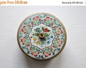 ON SALE Vintage Floral Tin Made in Holland