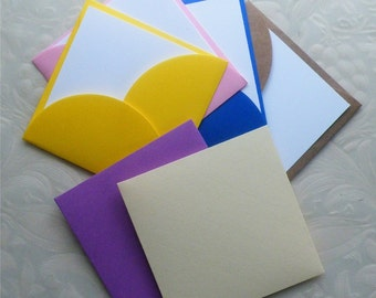 "Petal Envelopes, Petal Envelope, Mini Petal Envelopes, Square Petal Envelopes, 3"" x 3"", 24PC"