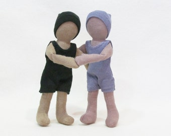 Pocket doll, Eco-friendly, gender neutral, multi cultural, hemp and wool doll, baby safe,