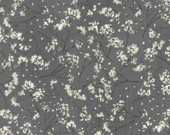 Pre-Order-Wordsmith Floral Gypsophila Slate 1392 15  for Moda