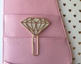 Diamond paper clip