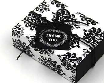 Package of Fancy Gift Box , Vintage Pattern, Favor, Gift, Party