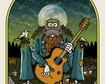 Country Wizard (Glow-in-the-Dark) - art print