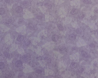 Cotton Quilting Fabric, Sunflower Fabric, Cotton Floral Fabric, Light Purple Fabric, Butterfly, Bees, Fabric by the Yard - 1 Yard - CFL1657