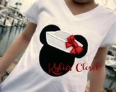 Minnie or Mickey Mouse Sailor Embroidered T-shirt for girls - Collection - Fans - Birthday - Party - Gift - Children