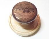 Wet Felting Tool - Mini Palm Washboard, Maple base & Black Walnut handle.