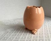 Vintage Faberge Egg Vase / Ceramic Pink Easter Egg Collectible by Faberge Original