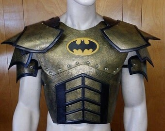 Leather Armor Juggernaut Chest, Back, and Shoulders with Graphic