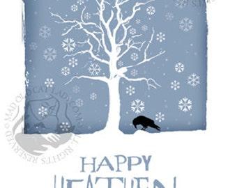 Happy Heathen Holidays greetings card