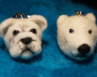 Hand Felted Keychain or Ornament