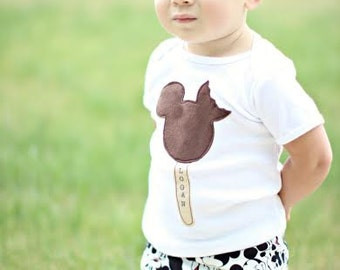 "Swanky Shank Gender Neutral ""Mousey's Ice Cream Dream"" Bodysuit, Tee or Tank"