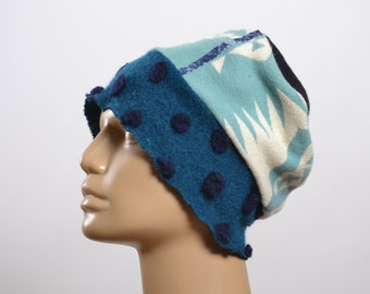 Women's  Hats - Repurposed Wool Hat - WInter Hats -  Blanket Hat - Winter Hats - Warm Hats