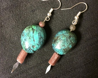Turquoise ear dangles
