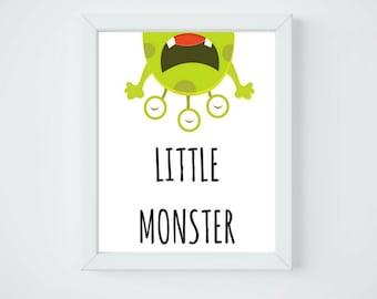Little monster art print, Printable Wall Art, Digital Download,8x10