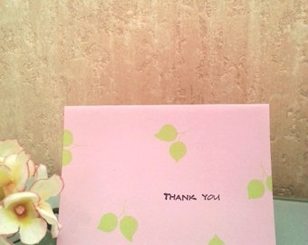 Thank you note cards, set of 6