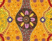 Australian Indigenous Fabric: Women Dreaming in Gold