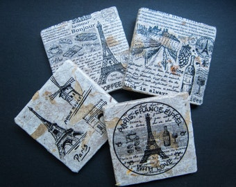 Paris wall art or coaster set. **Ask for free gift wrapping and have them sent directly to the recipient!**