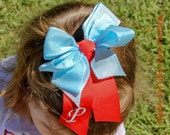 Monogrammed Hair Bows - Choose your Color Ribbon (s)