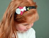 Glitter Snowman Feltie Headband
