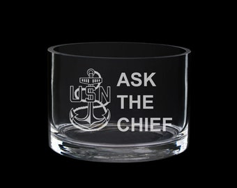 Ask the Chief USN US Navy chief candy dish desk catch-all mcpo scpo cpo sponsor gift