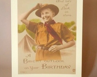 Lucky Birthday Card with Scout