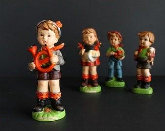 Vintage Hummel Like Boy Music Time Made in Japan Figurine French Horn