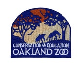 "California ""Oakland Zoo"" Wildlife Conservation Patch Souvenir Iron-On Applique"