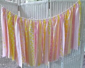 Pink Lemonade Fabric Garland