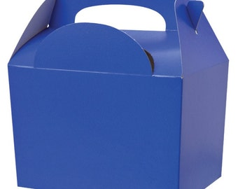 Dark Blue Gable Party Boxes
