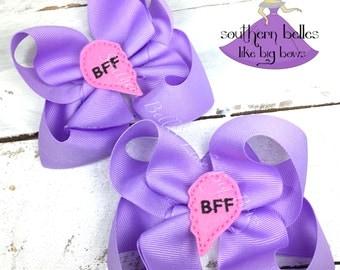 Best Friends Gift, BFF Gift, Gift for Best Friend, BFF Bow, Hair Bow for BFFs, BFF Bows, Gift for Friends, Gift for Girls, Birthday Gift