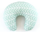Boppy Cover Mint Chevron. Boppy. Nursing Pillow. Boppy Pillow Cover. Boppy Slipcover. Minky Boppy Cover. Mint Boppy Cover.