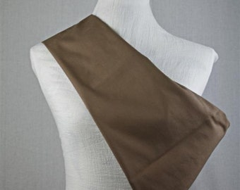 Linen Sling Pouch Baby Carrier - Made by Earthslings - Chocolate Brown