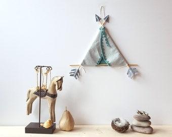 Tribal nursery, tepee, above bed decor, kids teepee, tipi, teepee decorations, be brave little one, arrow mobile, our tribe, nursery decor