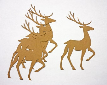 Tim Holtz Pracing Deer Card Stock Set of 4
