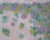 Vintage Pillowcase Ultra Groovy Flowers Lavender Blue Teal GreenLinens Free Shipping Bedding Bed