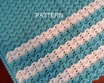 Baby Blanket Crochet Pattern, Petite Ripple, Toddler Afghan, Crib Blanket Pattern