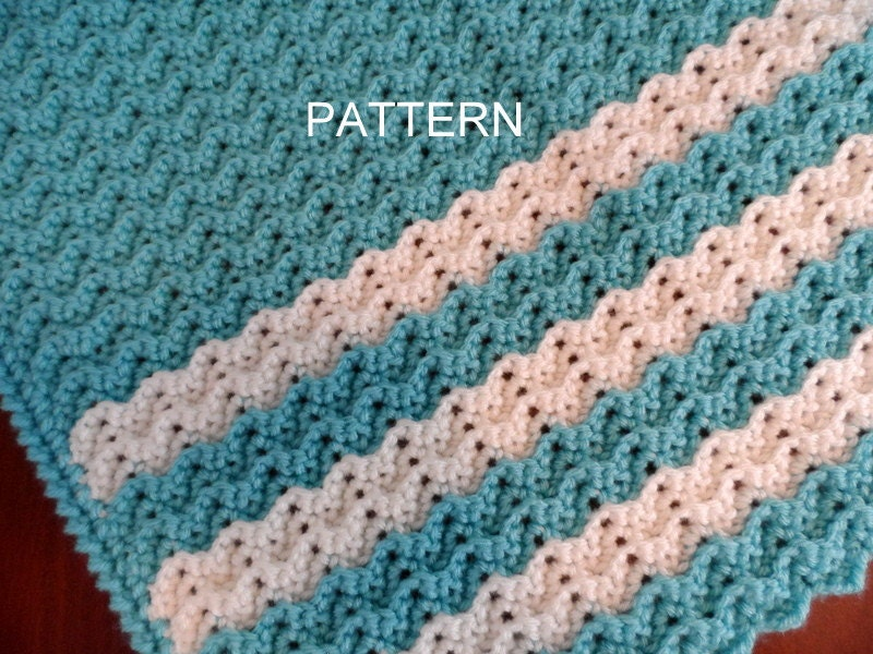 Crochet Afghan Patterns For Toddlers : Baby Blanket Crochet Pattern Petite Ripple Toddler Afghan
