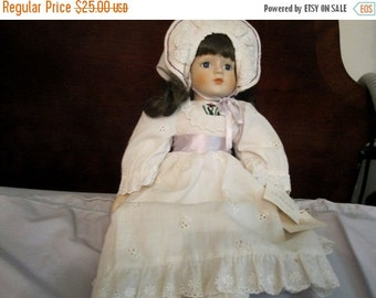 ON SALE Gorham Doll with Iris Embroidery