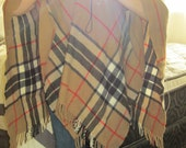 Burberry Style Plaid Shawl